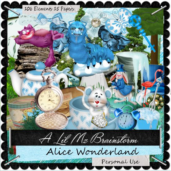 LMB Alice Wonderland PU