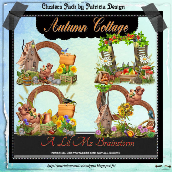 LMB Autumn Cottage Clusters 2 PU