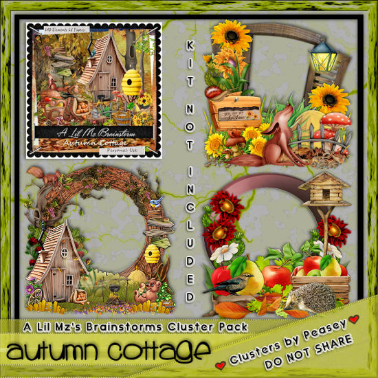 LMB Autumn Cottage Clusters PU