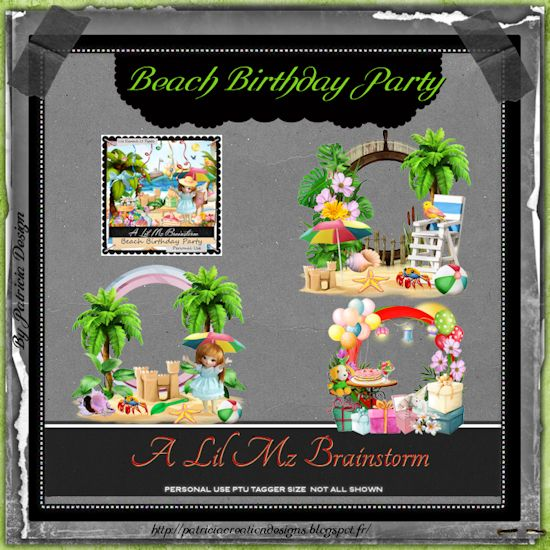 LMB Beach Birthday Party Clusters PU