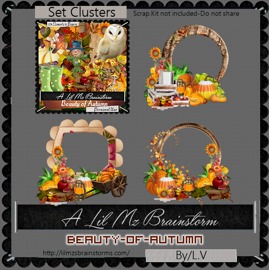 LMB Beauty Of Autumn Clusters PU