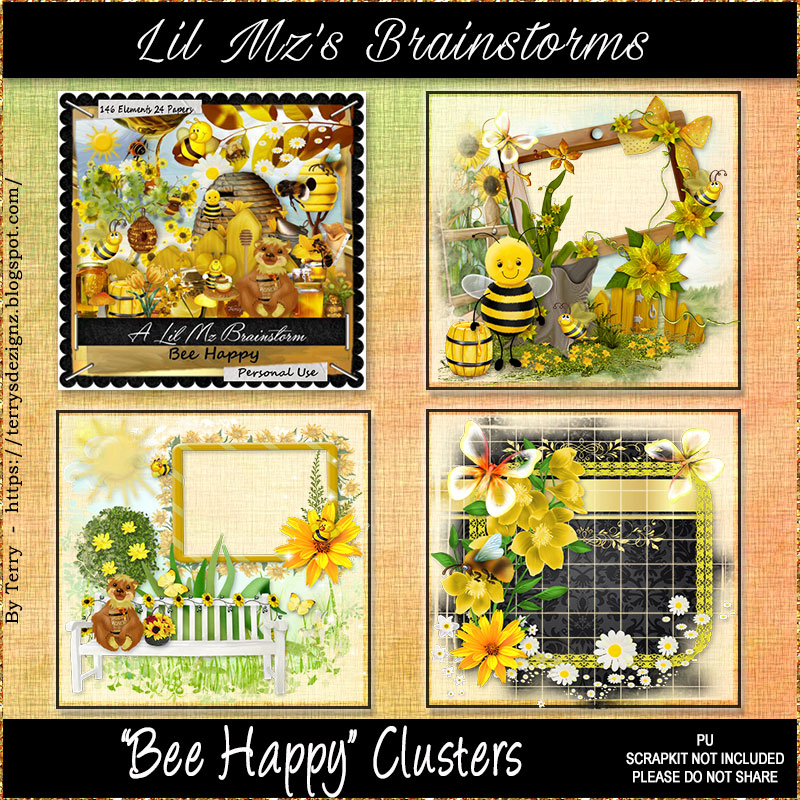 LMB Bee Happy Clusters PU