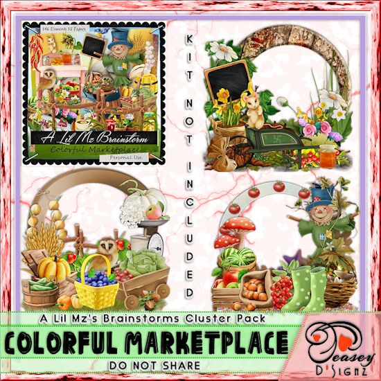 LMB Colorful Marketplace Clusters PU
