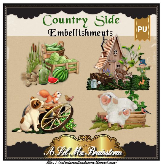 LMB Countryside Embellishments PU