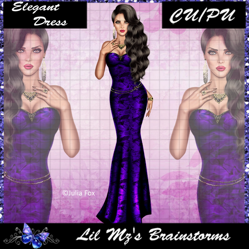 LMB Elegant Dress JF Purple CU