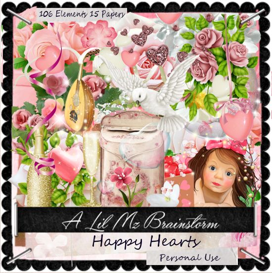 LMB Happy Hearts PU