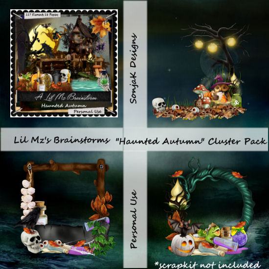 LMB Haunted Autumn Clusters PU