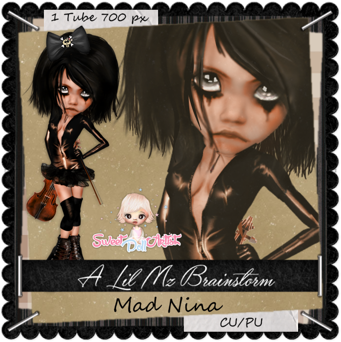 LMB Mad Nina Brown CU