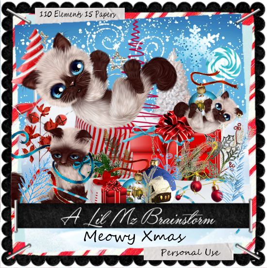 LMB Meowy Xmas PU - Click Image to Close