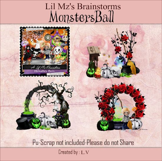 LMB Monsters Ball Clusters PU