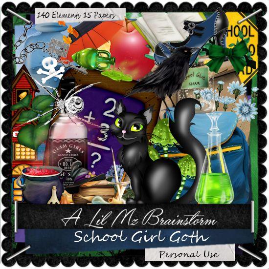 LMB School Girl Goth PU