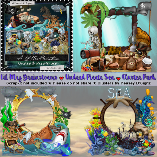 LMB Undead Pirate Sea Clusters 2 PU