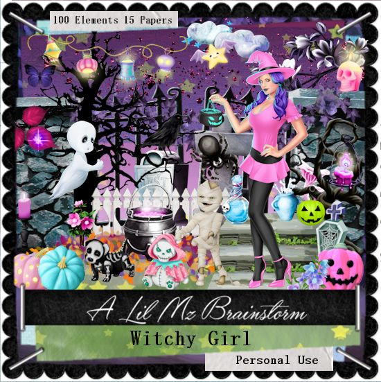 LMB Witchy Girl PU